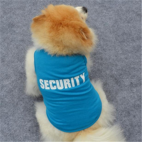 "Dog Pet coat T-Shirt ""SECURITY"""