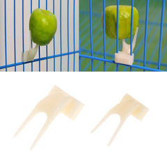 2Pcs Birds Parrots Fruit Fork
