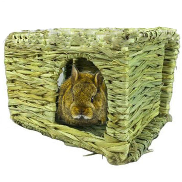 Handcrafted Woven Grass Rabbit Hamster Cage House