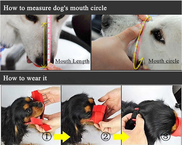 1PC  Mouth Muzzle Anti Bark
