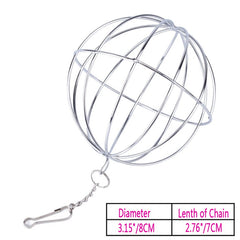 Stainless Steel Pet Toys Round