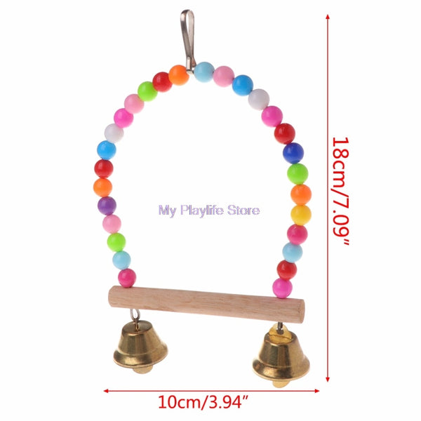 Natural Wooden Swing Toy for Birds