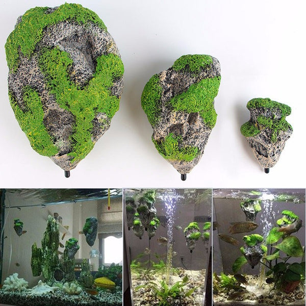 Floating Rock Aquarium Decor