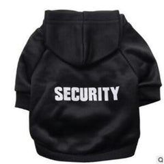 "Dog Pet coat Hooded Sweater ""SECURITY"""