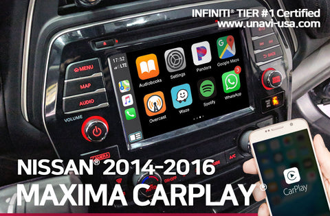 Nissan 2014 to 2016 maxima apple carplay & android auto OEM integrated system