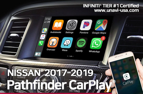 nissan 2017 to 2019 pathfinder apple carplay & android auto OEM integrated system