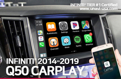 Infiniti 2014 to 2019 Apple CarPlay & Android Auto OEM-integrated system