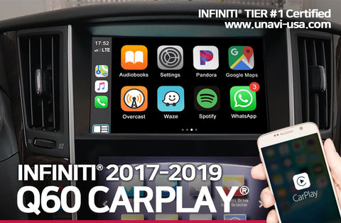 Infiniti 2017 to 2019 apple carplay & android auto OEM integrated system