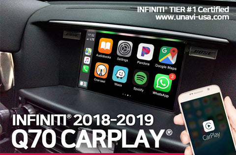 Infiniti 2018 to 2019 Q70 apple carplay & android auto OEM integrated system