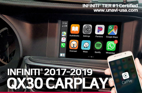 Infiniti 2017 to 2019 QX30 apple carplay & android auto OEM integrated system