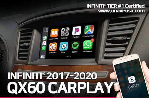 Infiniti 2017 to 2020 QX60 apple carplay & android auto OEM integrated system