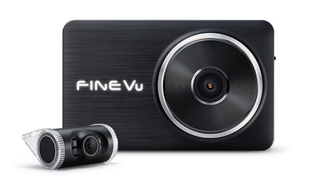 FineVu LX2000 | 2 Channel Dash Cam | Full HD | GPS Compatible | 32 GB SD Card - Unavi USA, Inc.