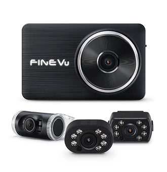 FineVu LX2000S | 3 Channel Dash Cam | Full HD | Parking Mode | GPS Compatible | 64 GB SD Card - Unavi USA, Inc.