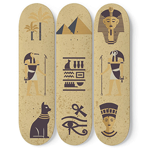 3-Skateboards Wall Decor