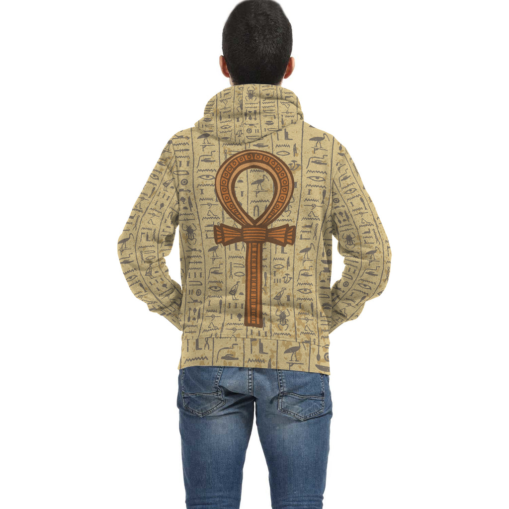 Ankh Egyptian Zip Hoodie all-over print - Pharao Store