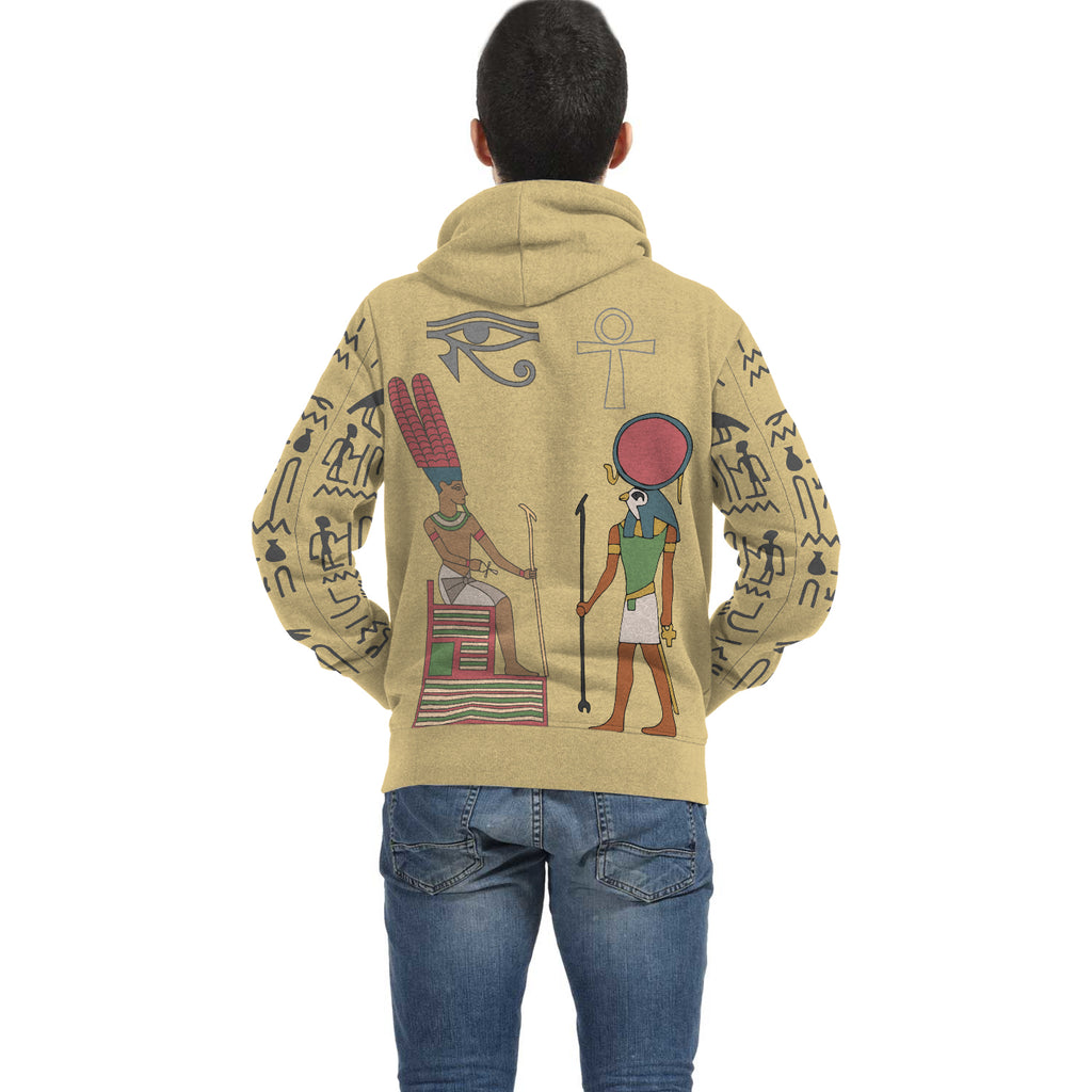 Egyptian Zip Hoodie all-over print - Pharao Store