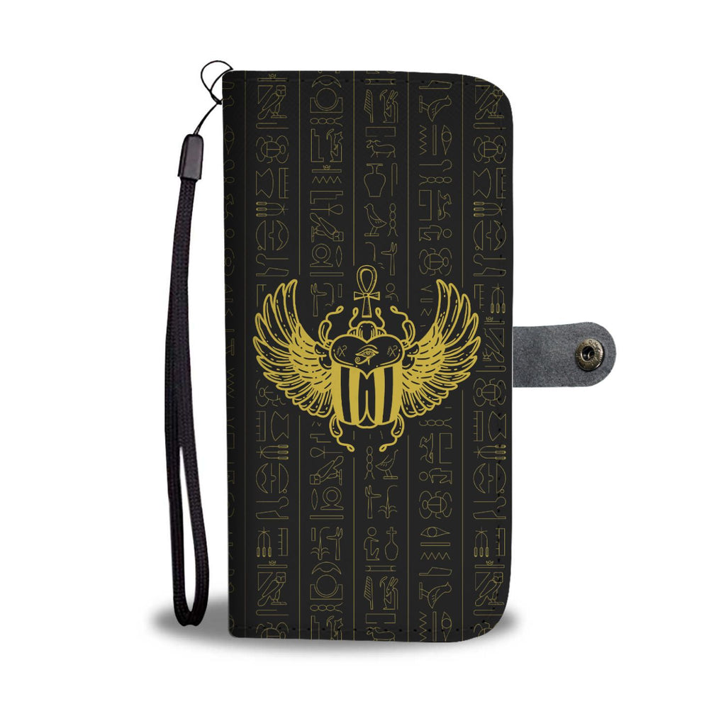 Scarab Ancient Egyptian Wallet Case - Pharao Store
