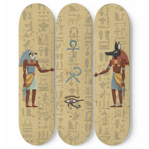 Ancient Egyptian Wall Art Skateboards - Pharao Store