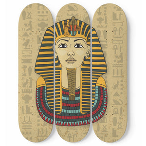 King Tut Ancient Egyptian Wall Art Skateboards - Pharao Store