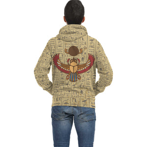 Scarab Egyptian Zip Hoodie all-over print - Pharao Store