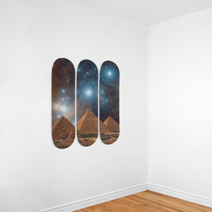 Egyptian Wall Art 3 Skateboards - Pharao Store