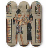 Egyptian Wall Art 3 Skateboards
