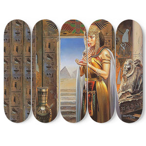 Egyptian Wall Art 5 Skateboards - Pharao Store