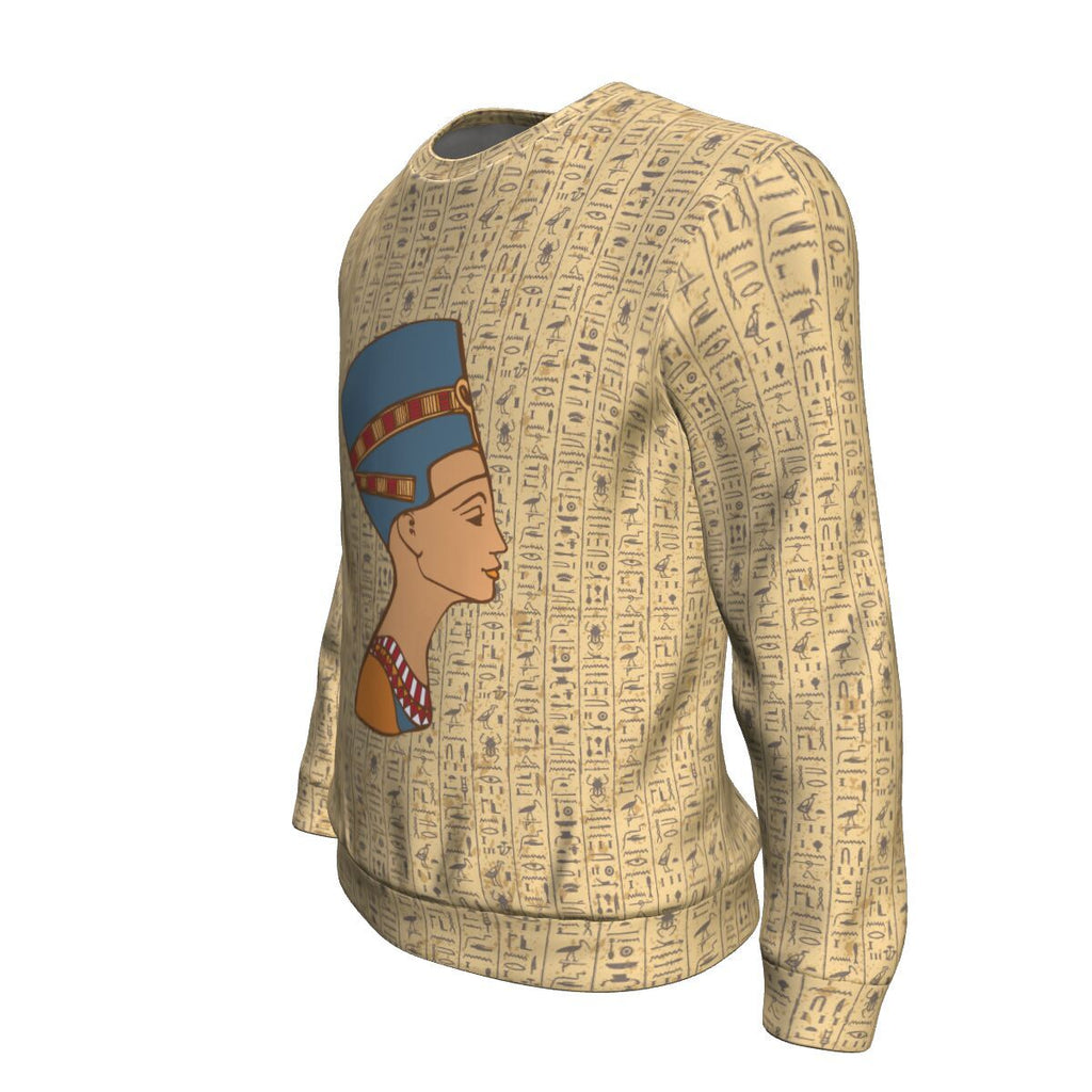 Nefertiti Egyptian Sweatshirt all-over print - Pharao Store