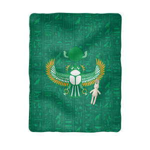 Scarab Egyptian Baby Blanket - Pharao Store