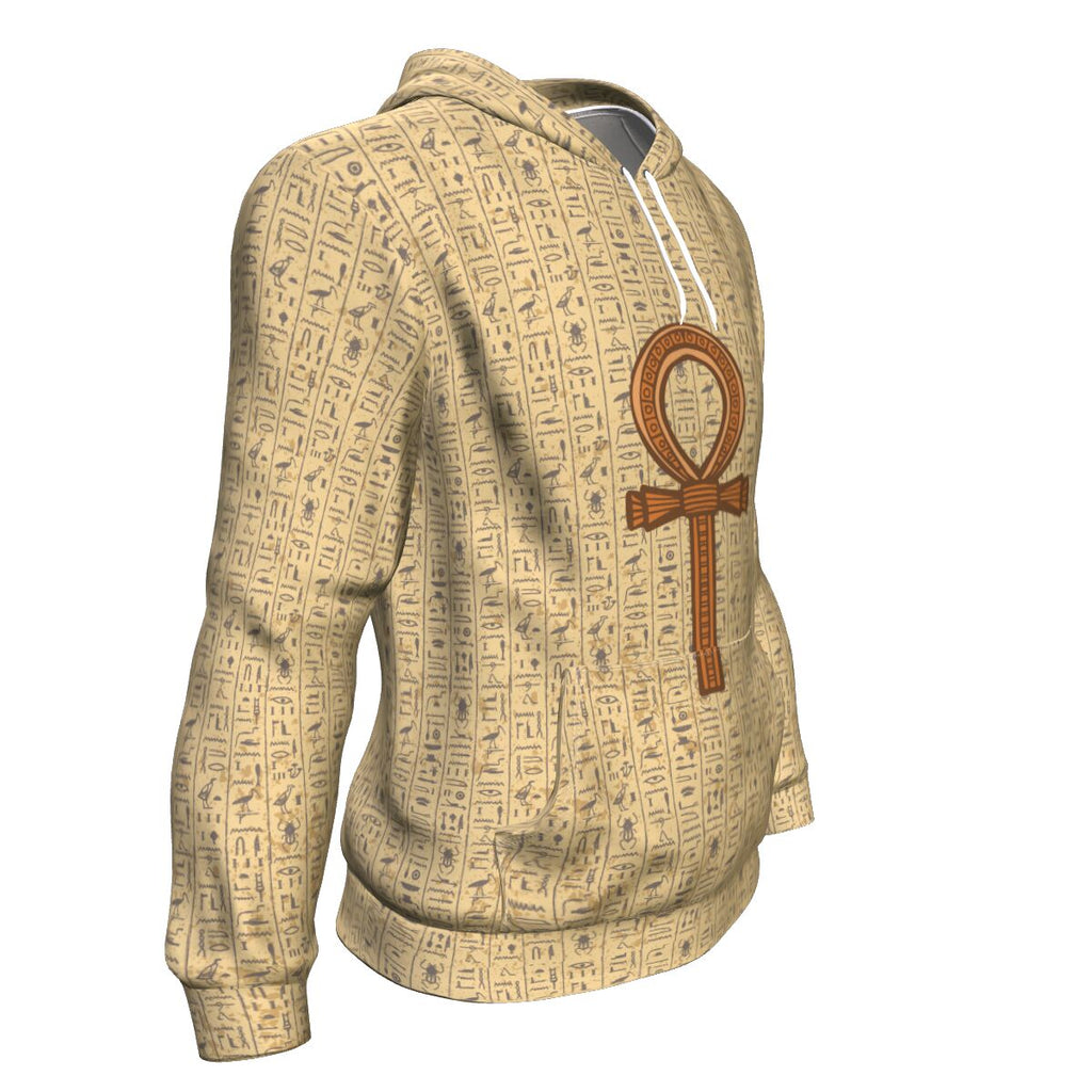 Ankh Egyptian Hoodie all-over print - Pharao Store