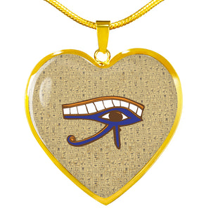 Eye of Horus Ancient Egyptian Necklace Heart - Pharao Store