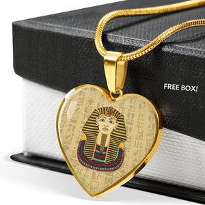 King Tut Ancient Egyptian Necklace Heart - Pharao Store