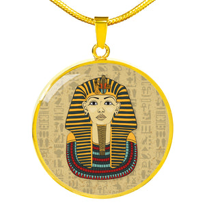 King Tut Ancient Egyptian Necklace Circle - Pharao Store