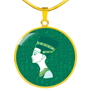 Nefertiti Ancient Egyptian Necklace Circle - Pharao Store