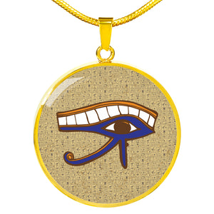 Eye of Horus Ancient Egyptian Necklace Circle - Pharao Store