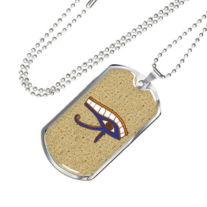 Eye of Horus Ancient Egyptian Dog Tag - Pharao Store