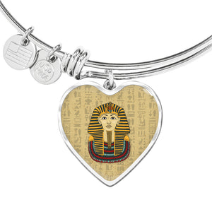 King Tut Heart Adjustable Egyptian Bangle - Pharao Store