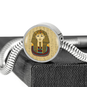 King Tut Circle Steel Egyptian Bracelet - Pharao Store