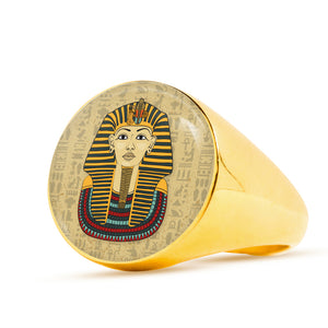 King Tut Signet Egyptian Ring - Pharao Store