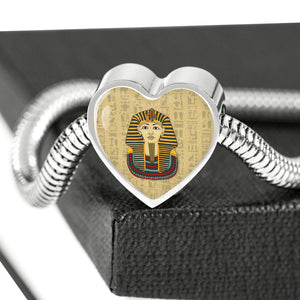 King Tut Heart Steel Egyptian Bracelet - Pharao Store