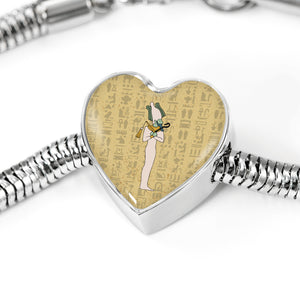 Heart Steel Egyptian Bracelet - Pharao Store