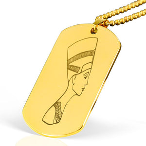 Nefertiti Egyptian Engraved Dog Tag - Pharao Store