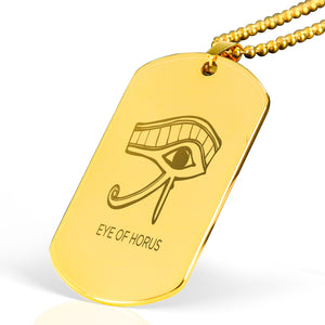 Eye of Horus Egyptian Engraved Dog Tag - Pharao Store