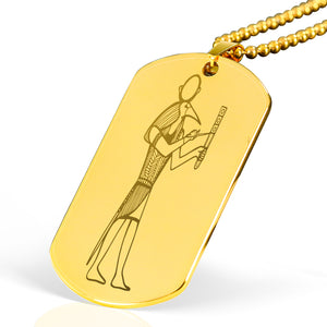 Egyptian Engraved Dog Tag - Pharao Store