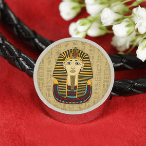 King Tut Circle Leather Egyptian Bracelet - Pharao Store
