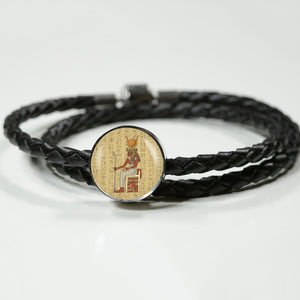 Circle Leather Egyptian Bracelet - Pharao Store