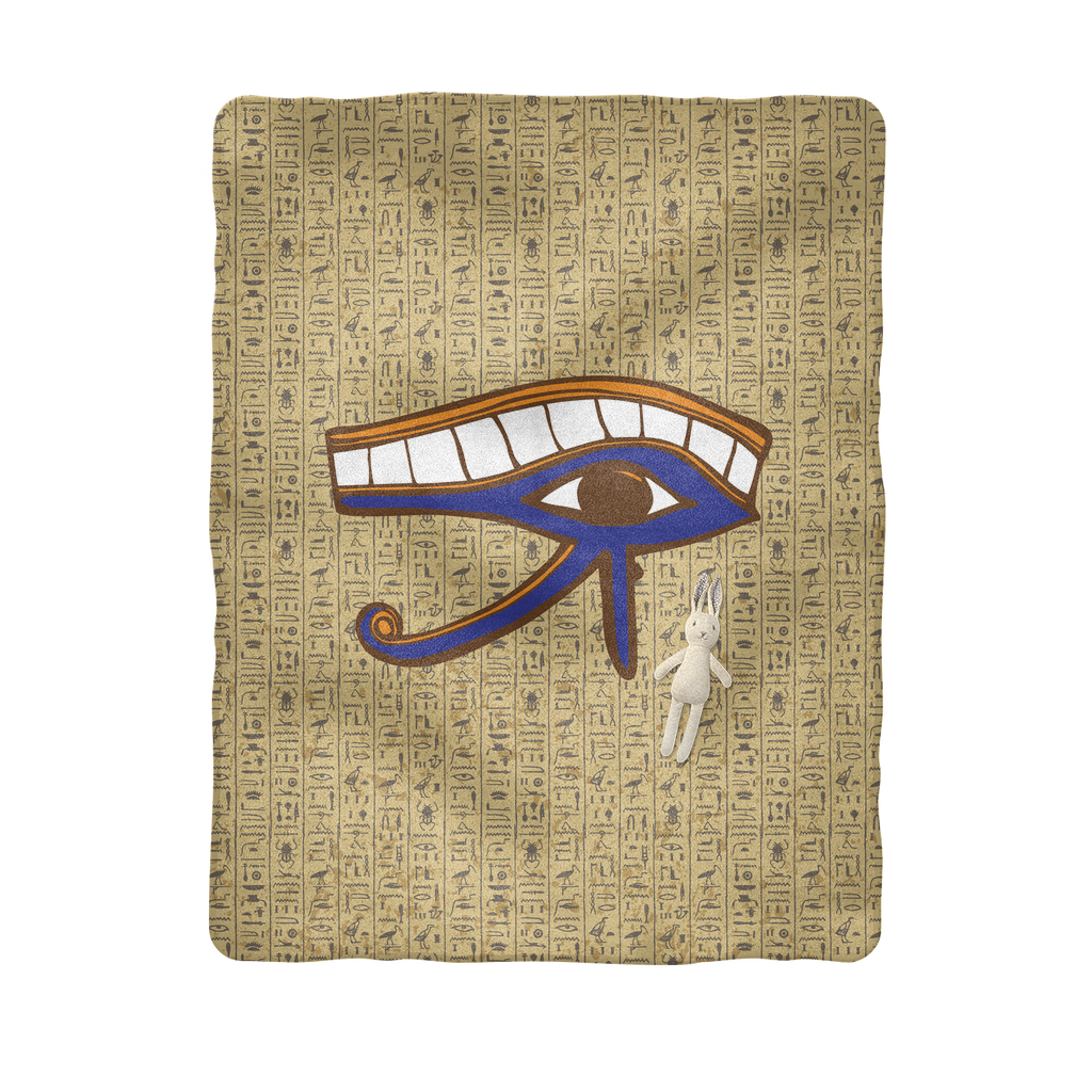 Eye of Horus Egyptian Baby Blanket - Pharao Store