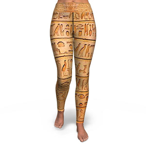Ancient Egyptian Yoga Leggings - Pharao Store