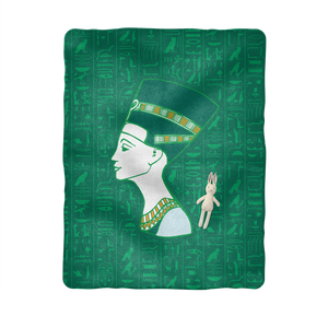 Nefertiti Egyptian Baby Blanket - Pharao Store
