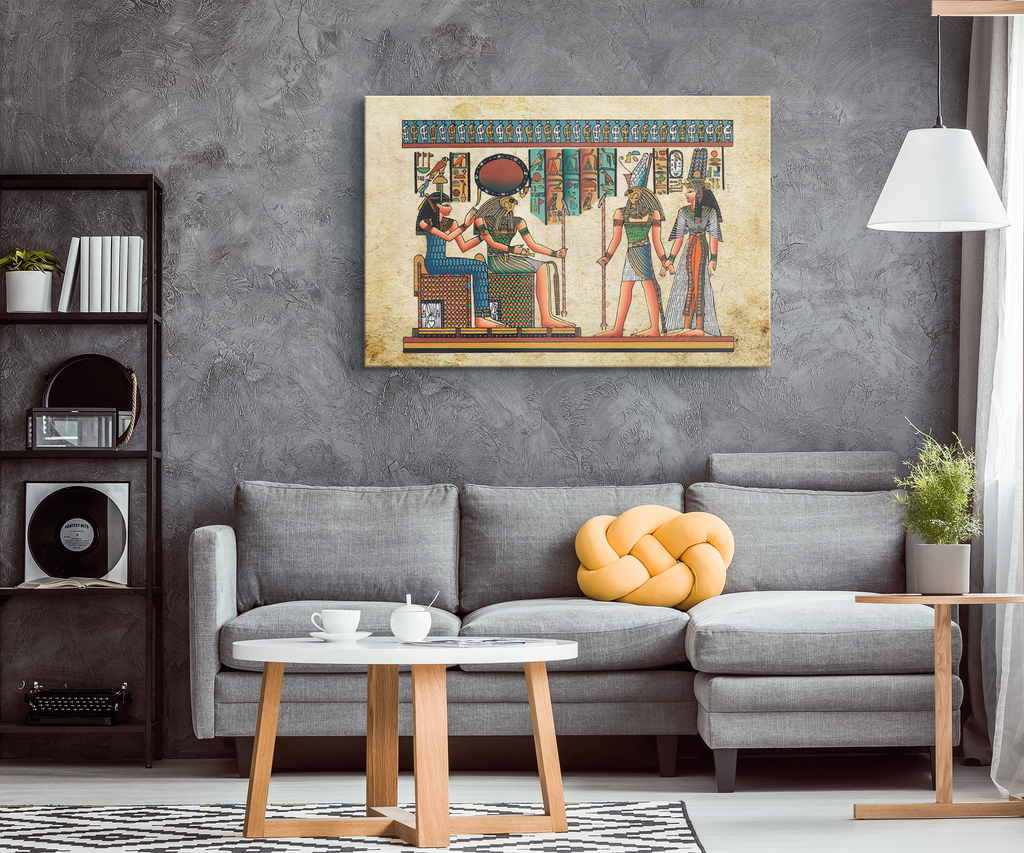 Egyptian Canvas Wall Art (Rectangular) - Pharao Store